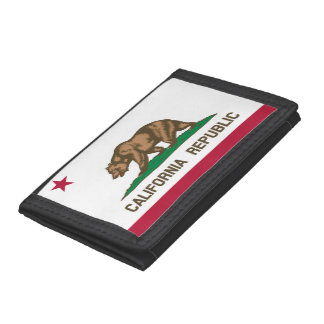 California Flag Trifold Wallet