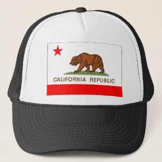 California Flag Trucker Hat