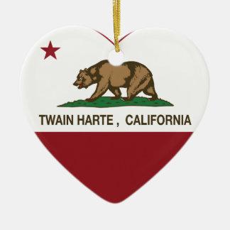 california flag twain harte heart ornament