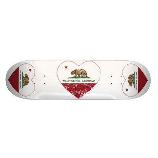 california flag valley center heart distressed skateboard deck