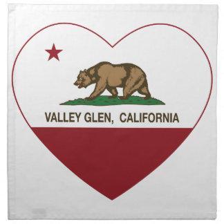 california flag valley glen heart cloth napkin