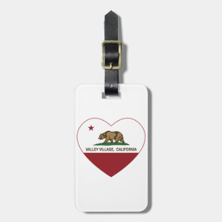 california flag valley village heart luggage tags