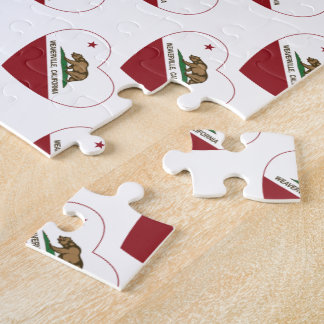 california flag weaverville heart jigsaw puzzles