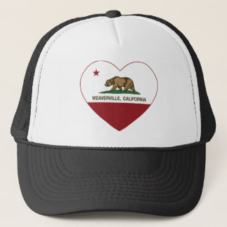 california flag weaverville heart trucker hat
