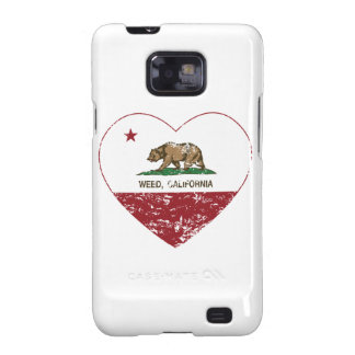 california flag weed heart distressed samsung galaxy s2 cases