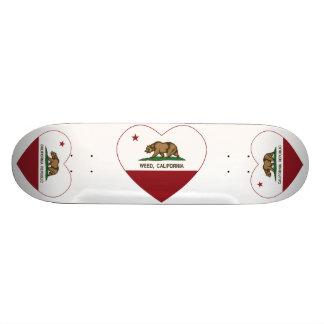 california flag weed heart skateboard deck