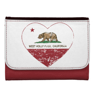 california flag west hollywood heart distressed leather wallets