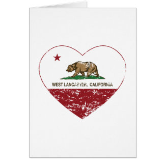 california flag west lancaster heart distressed card