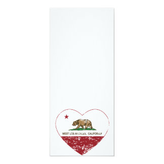 california flag west los angeles heart distressed card