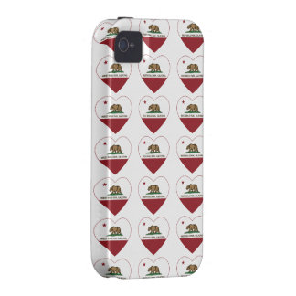 california flag west menlo park heart vibe iPhone 4 covers