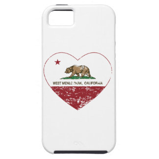 california flag west menlo park heart distressed iPhone 5 cover