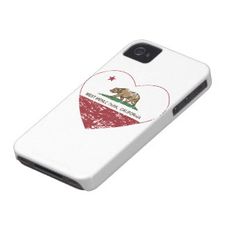 california flag west menlo park heart distressed Case-Mate iPhone 4 case