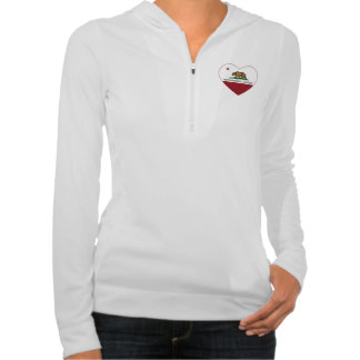 california flag west sacramento heart hooded pullovers
