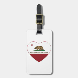 california flag westlake village heart luggage tag
