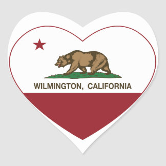 california flag wilmington heart heart sticker