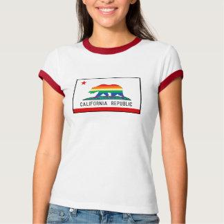 California Flag with Rainbow Bear T-Shirt