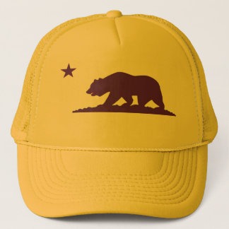 California Flag Yellow Trucker Hat