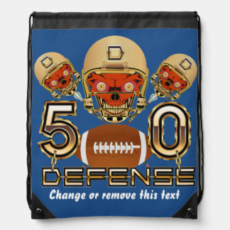 California Football SB 50 Defense Drawstring Bag
