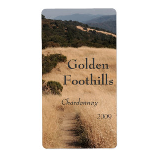 California foothills trail wine label