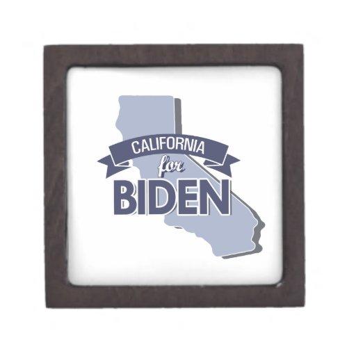 CALIFORNIA FOR BIDEN -.png Premium Keepsake Boxes