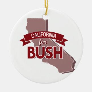 CALIFORNIA FOR BUSH -.png Christmas Ornament