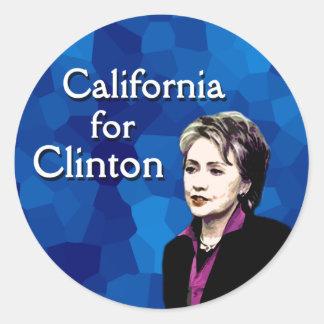 California for Clinton Classic Round Sticker