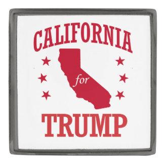 CALIFORNIA FOR DONALD TRUMP GUNMETAL FINISH LAPEL PIN