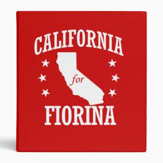 CALIFORNIA FOR FIORINA 3 RING BINDER