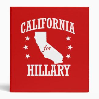 CALIFORNIA FOR HILLARY CLINTON 3 RING BINDERS