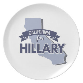 CALIFORNIA FOR HILLARY PLATE