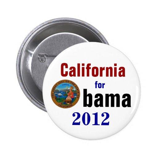 California for Obama 2012 Button
