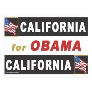 California for Obama Postcard