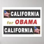 California for Obama Poster
