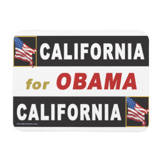 California for Obama Rectangular Photo Magnet