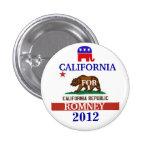 California for Romney 2012 Button