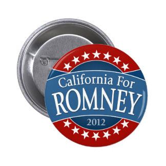 California for Romney Pinback Button