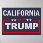 California for Trump Poster