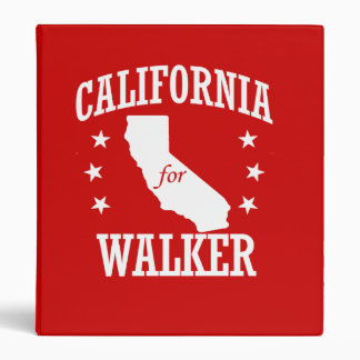 CALIFORNIA FOR WALKER VINYL BINDERS
