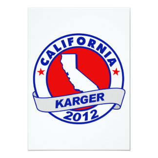 California Fred Karger 5x7 Paper Invitation Card