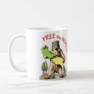 California Free the North & Free the South mugs