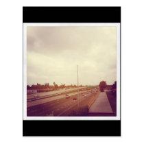 artsprojekt, california, freeway, travel, highway, Postcard with custom graphic design
