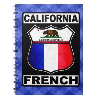 California French American Notepad Spiral Notebook
