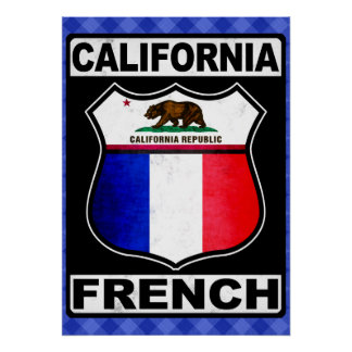 California French American Poster Print