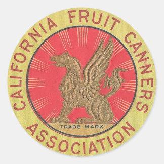 California Fruit Classic Round Sticker