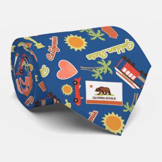California Fun Pattern Tie