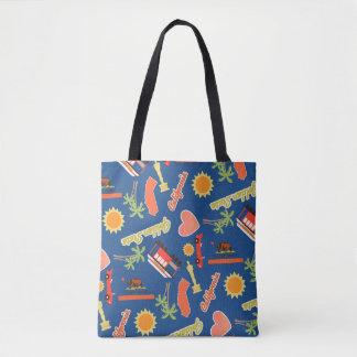 California Fun Pattern Tote Bag