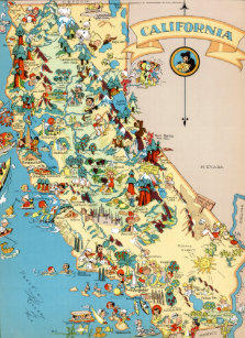 Map Of California Funny.Vintage California Map Postcards No Minimum Quantity Zazzle