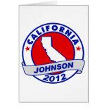 California Gary Johnson Tarjeta