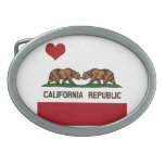 CALIFORNIA GAY MARRIAGE FLAG SQUARE -.png Oval Belt Buckle