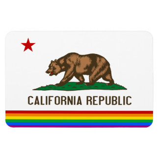 California Gay Pride Flag Magnet